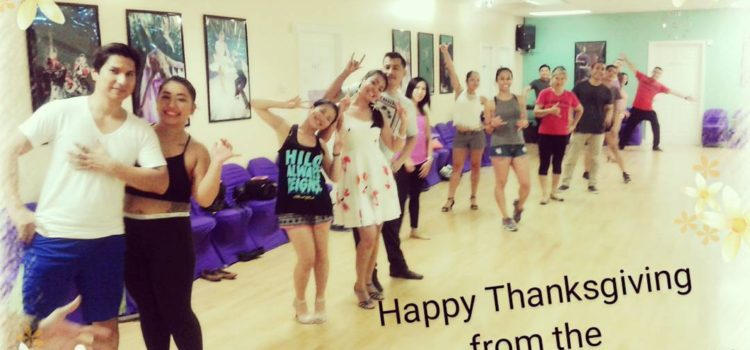 Thanksgiving – The School of Salsa will be closed